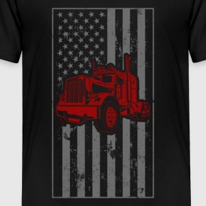 American Bad Ass Trucker Trucker Shirts For Men - Toddler Premium T-Shirt