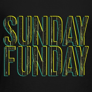 Sunday Funday 3D look typeface yellow/turquoise - Toddler Premium T-Shirt