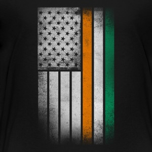 Irish American Flag - Half Irish Half American - Toddler Premium T-Shirt