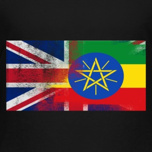 British Ethiopian Half Ethiopia Half UK Flag - Toddler Premium T-Shirt