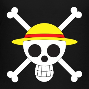 Straw hat crew jolly roger - Toddler Premium T-Shirt