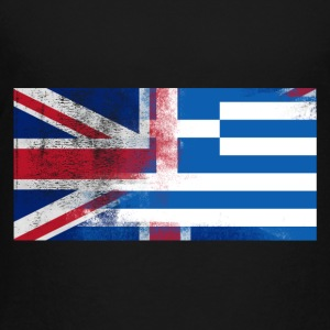 British Greek Half Greece Half UK FlagBritish Gree - Toddler Premium T-Shirt