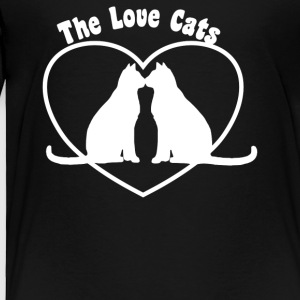 Valentine s Day Love Cats - Toddler Premium T-Shirt