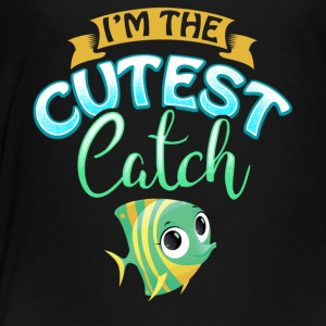 Cutest Catch Fisherman Fishing Wife Present Gift - Toddler Premium T-Shirt