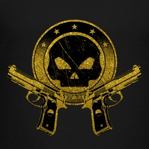 Death Squad - Gold Symbol Skull Guns Weapon Rifle - Toddler Premium T-Shirt