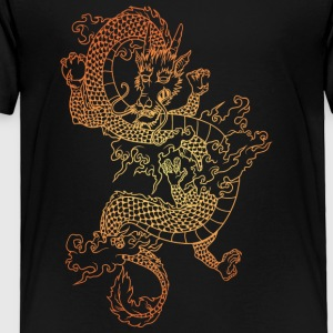 long_dragon_gold - Toddler Premium T-Shirt