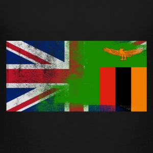 British Zambian Half Zambia Half UK Flag - Toddler Premium T-Shirt
