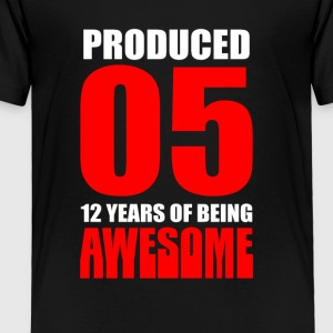 12th Birthday Gift -Made In 05 cute - Toddler Premium T-Shirt