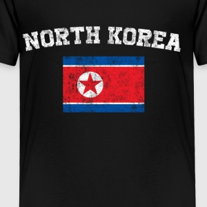 North Korea Flag Shirt - Vintage North Korea T-Shi - Toddler Premium T-Shirt