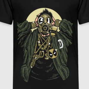 Gasmask Gangsta. The crazy bling bling guy. - Toddler Premium T-Shirt