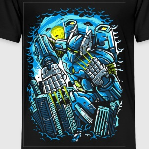 Destroy The City. The Horrible Robot Attack. - Toddler Premium T-Shirt