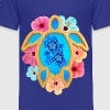 Blue Honu And Hibiscus - Toddler Premium T-Shirt