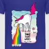 Unicorn vomiting rainbow - Toddler Premium T-Shirt