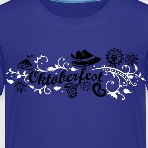 Oktoberfest decoration with traditional elements - Toddler Premium T-Shirt