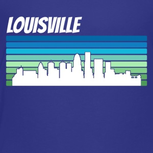Retro Louisville Skyline - Toddler Premium T-Shirt