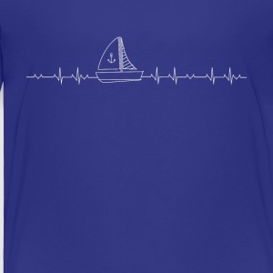 sailing heartbeat - Toddler Premium T-Shirt