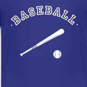 baseball ball stick pitcher glove team club sport - Toddler Premium T-Shirt