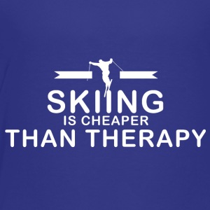 Skiing is cheaper than therapy - Toddler Premium T-Shirt