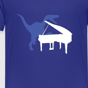 Velociraptor Playing Piano - Toddler Premium T-Shirt