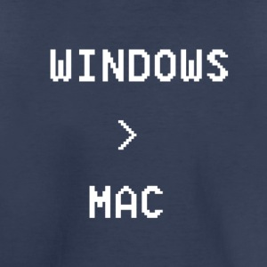 Windows is greater than Mac - Toddler Premium T-Shirt