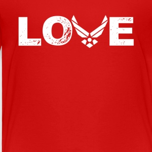 Love US Air Force Tee Shirt - Toddler Premium T-Shirt