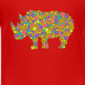 Rhinoceros Flower Shirts - Toddler Premium T-Shirt