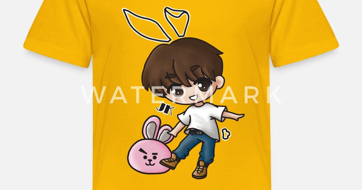 Jungkook Bunny Chibi Kpop Toddler Premium T Shirt Spreadshirt