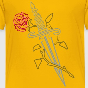 Rose with Knife - Toddler Premium T-Shirt