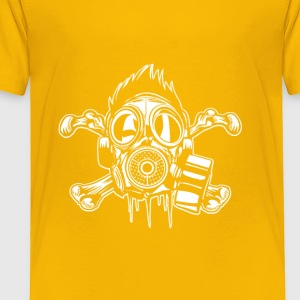 Cross Bones Gasmask Punkster. Crazy but true. - Toddler Premium T-Shirt