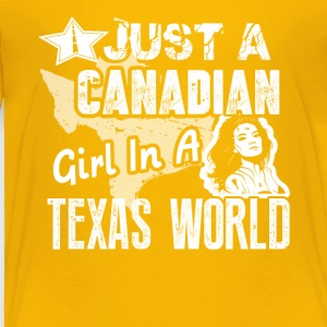Canadian Girl Shirt - Toddler Premium T-Shirt