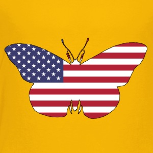 American Flag - Butterfly - Toddler Premium T-Shirt