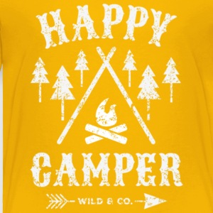 Happy Camper Camping T Shirt - Toddler Premium T-Shirt