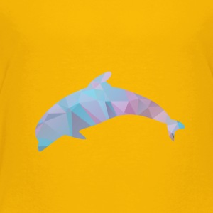 Polygon Dolphin - Toddler Premium T-Shirt