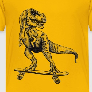 T Rex Skateboarding - Toddler Premium T-Shirt
