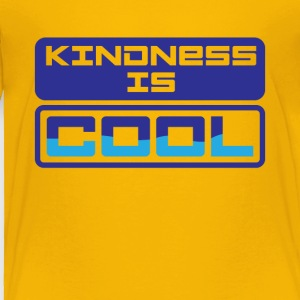 Kindness Is Cool Graphic Tee Shirt - Toddler Premium T-Shirt