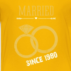 Married since 1980 - Toddler Premium T-Shirt