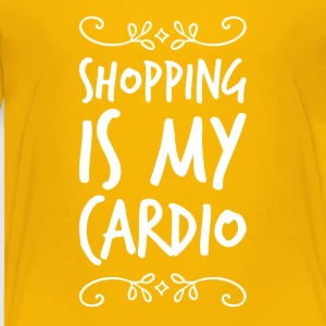 Shopping is my cardio - Toddler Premium T-Shirt