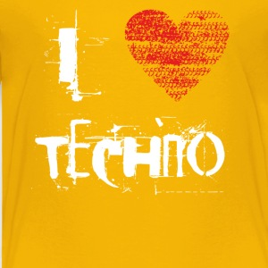I love techno rave goa hardtek hard - Toddler Premium T-Shirt
