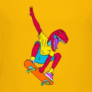 Skate Raptor, Skate raptor straight shredding - Toddler Premium T-Shirt
