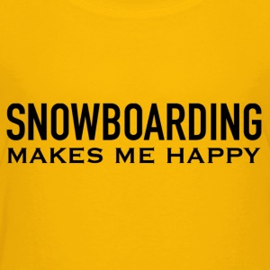HAPPY SNOWBOARDING - Toddler Premium T-Shirt