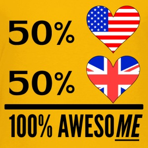 Half American Half British 100% Awesome - Toddler Premium T-Shirt