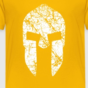 Spartan Warrior Helmet distressed - Toddler Premium T-Shirt