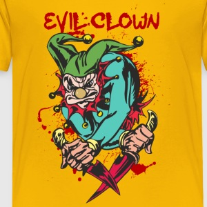 EVIL_CLOWN_3_WITH_knifes_bloody - Toddler Premium T-Shirt