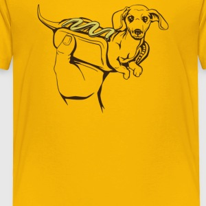 Hot Dog Dog - Toddler Premium T-Shirt