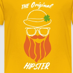 The Original Hipster St Patrick's Day Shirt - Toddler Premium T-Shirt