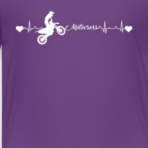 Motocross Heartbeat Shirt - Toddler Premium T-Shirt