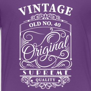vintage old no 40 - Toddler Premium T-Shirt