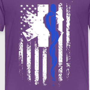 EMT Flag Blue Shirt - Toddler Premium T-Shirt