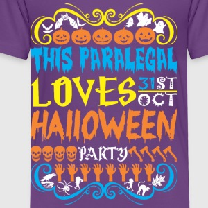 This Paralegal Loves 31st Oct Halloween Party - Toddler Premium T-Shirt