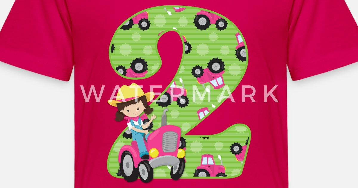 Tractor Girl 2nd Birthday Toddler Premium T Shirt